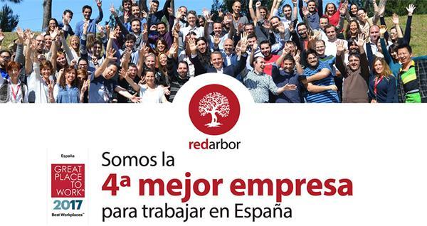 Redarbor, the 4th best company to work for in Spain according to Great Place to Work